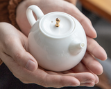 2 Types white ceramic teapot
