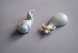 Fish and OX tea pet